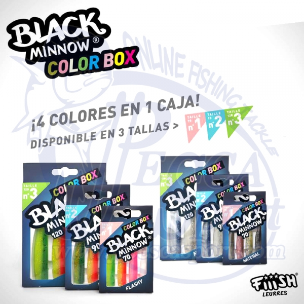 FIIISH BLACK MINNOW COLOR BOX