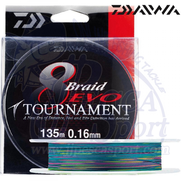 DAIWA TOURNAMENT 8 BRAID EVO (MULTICOLOR)